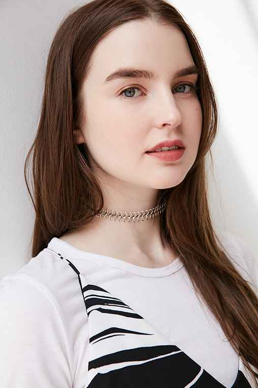 Wire Tattoo Choker Necklace,SILVER,ONE SIZE