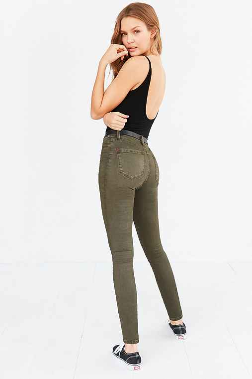 BDG Twig High-Rise Skinny Pant,OLIVE,29/29