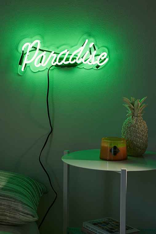 Neon Mfg. Paradise Sign,GREEN,ONE SIZE