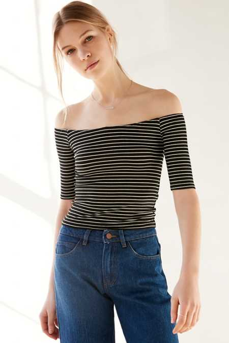 Silence + Noise Babe Rib Off-The-Shoulder Tee