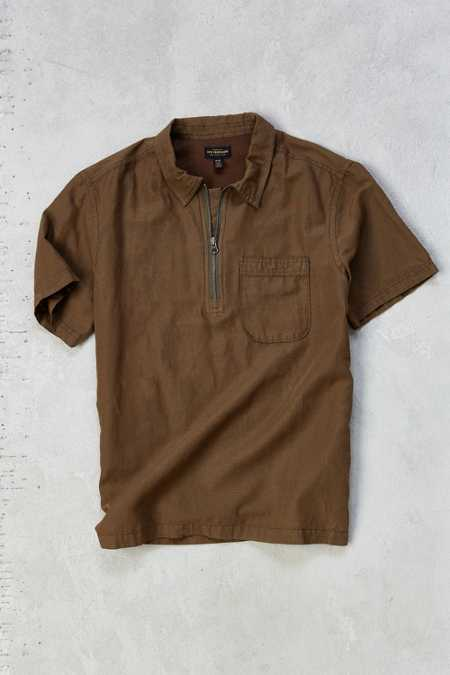 CPO Linen Zip-Up Popover Shirt