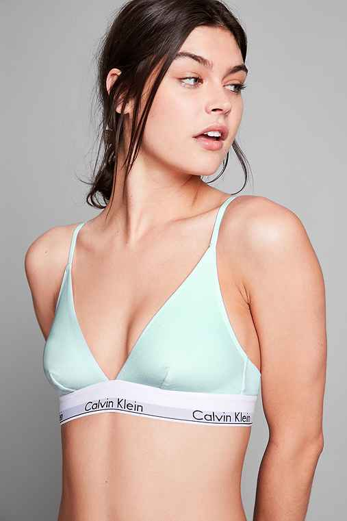 Calvin Klein Modern Cotton Triangle Bra,LIME,S