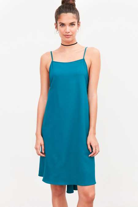 Silence + Noise Straight-Neck High/Low Dress