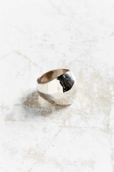 Penny Hammered Statement Ring