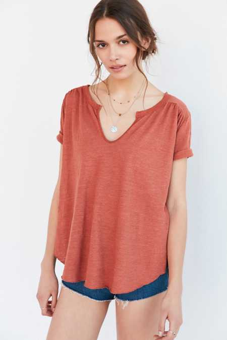 Ecote Nora Notch-Neck Tee