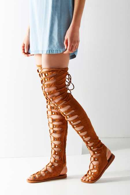 Jeffrey Campbell Olympus Over-The-Knee Gladiator Sandal
