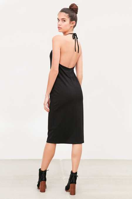 Silence + Noise Ponte Scoop-Back Midi Dress