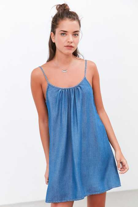 BDG Chambray Swing Mini Dress
