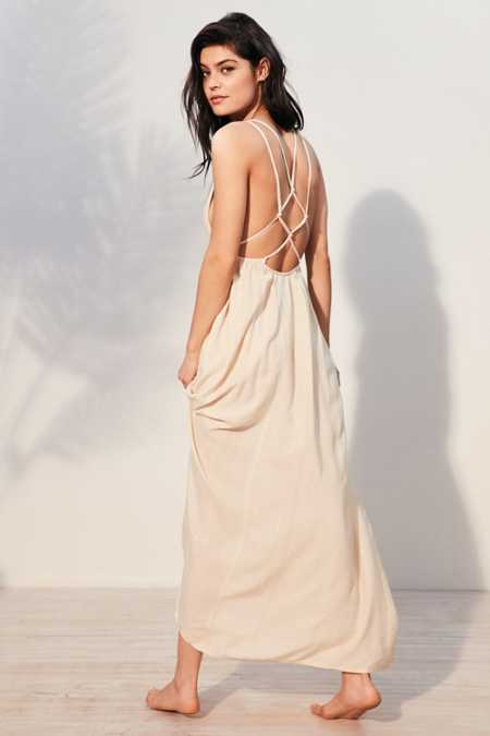Out From Under Knotted Back Beach Maxi Cover-Up