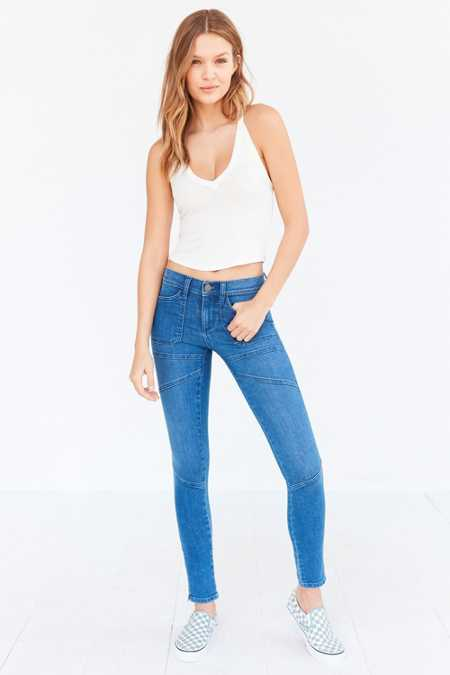 BDG Womens Jefferson Skinny Jeans in Rinsed Denim