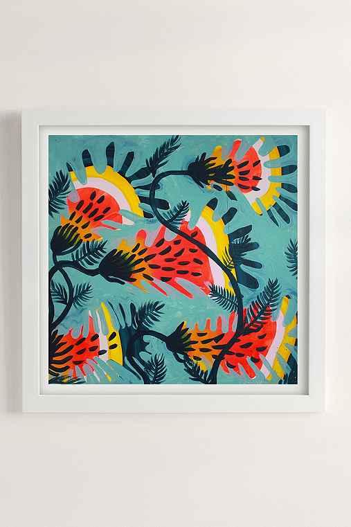 Kenneth Lavallee Tiger Lilies Art Print,WHITE MATTE FRAME,12X12