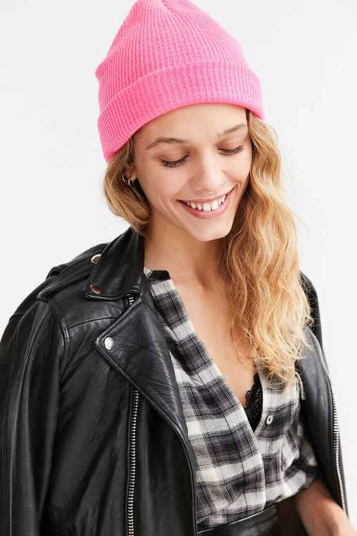 Classic Knit Beanie,PINK,ONE SIZE