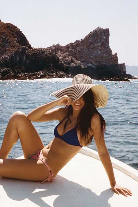 Silence + Noise Striped Oversized Floppy Hat