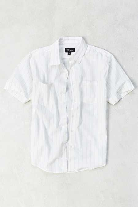 Brixton Branson Stripe Short-Sleeve Button-Down Shirt