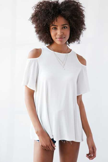 Kimchi Blue Darling Cold Shoulder Tunic Top