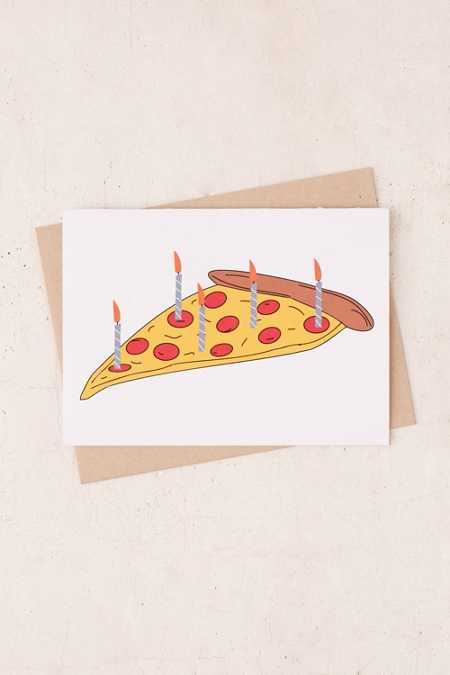 PAGEFIFTYFIVE Pizza Cake Birthday Card