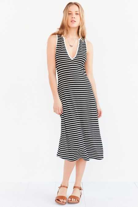 BDG Notch-Neck Midi Dress