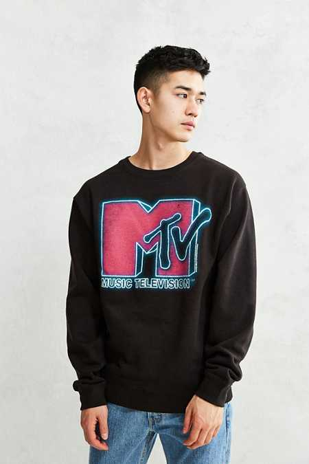 Junk Food MTV Neon Light Crew-Neck Sweatshirt