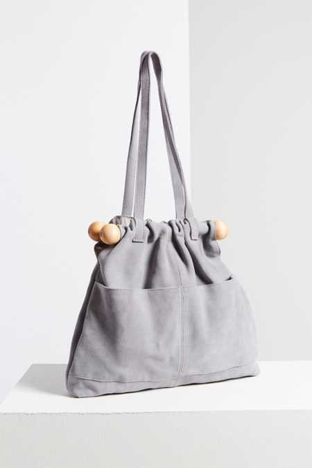 Ecote Bobbi Suede Bar Tote Bag