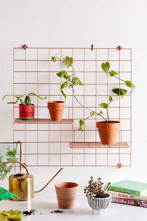 Wire Wall Grid Shelf,COPPER,ONE SIZE