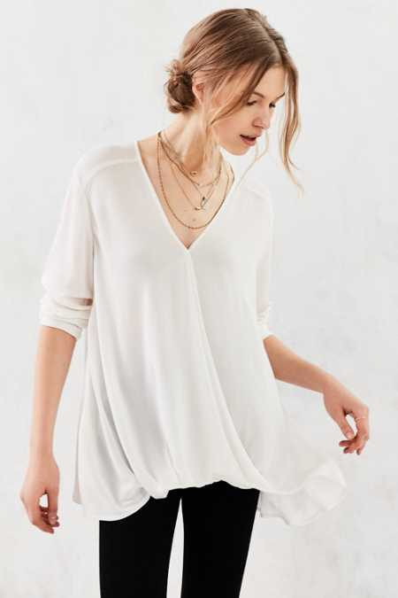 Silence + Noise Willow Surplice Blouse