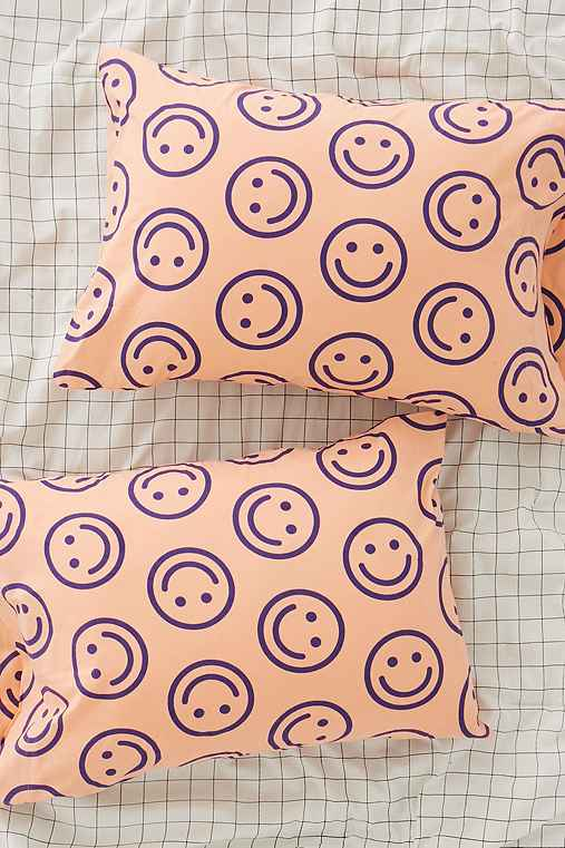 BAGGU & UO Happy Pillowcase Set,ROSE,ONE SIZE