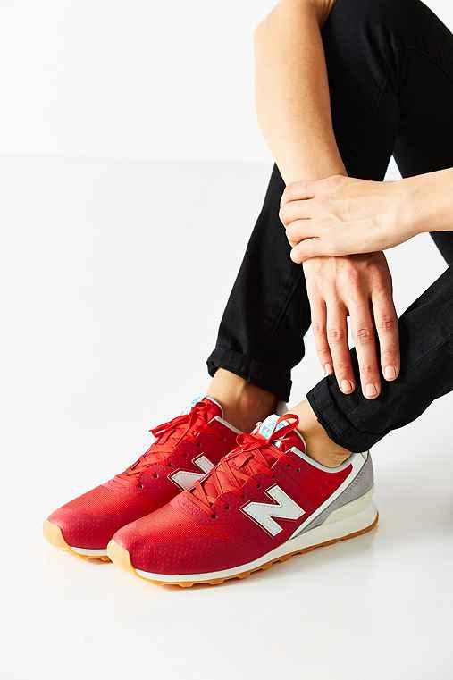 New Balance 696 Reengineered Running Sneaker,RED,10