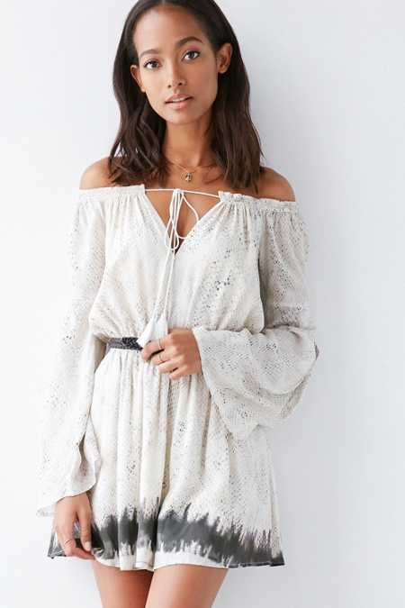 The Jetset Diaries Python Off-The-Shoulder Dress