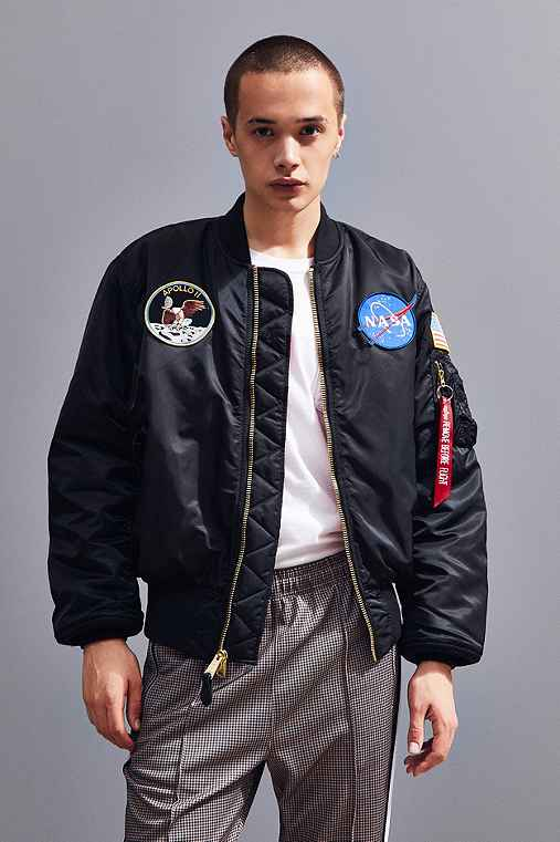 Alpha Industries NASA MA-1 Bomber Jacket,NAVY,M