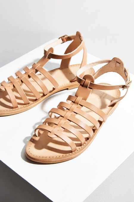 Leather Quarter Strap Gladiator Sandal