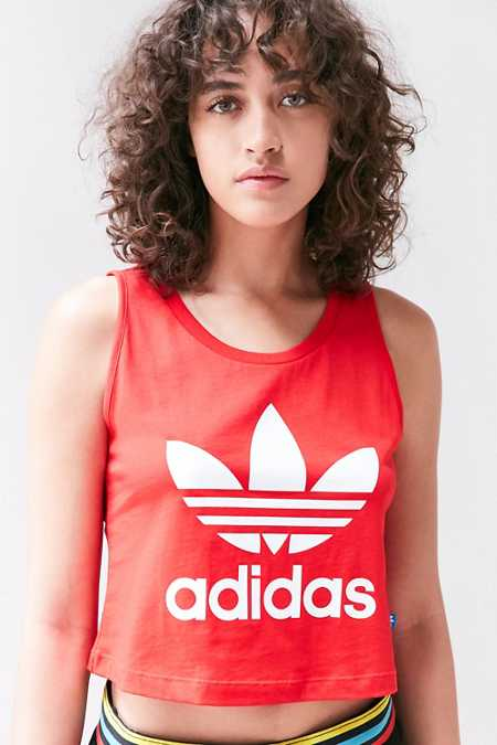 adidas Trefoil Cropped Tank Top