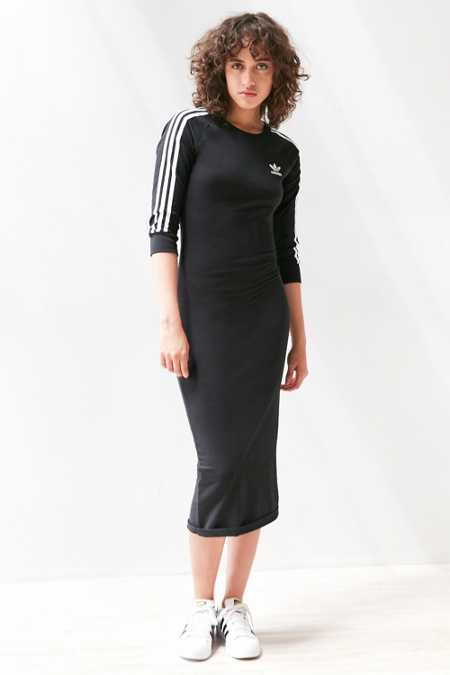 adidas Originals 3-Stripe Bodycon Midi Dress