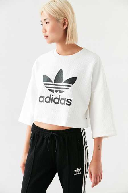 adidas Originals + UO Diamond Jacquard Cropped Tee