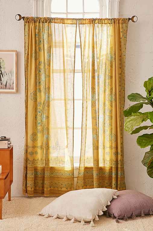 Luxor Engineered Curtain,GOLD,52X84