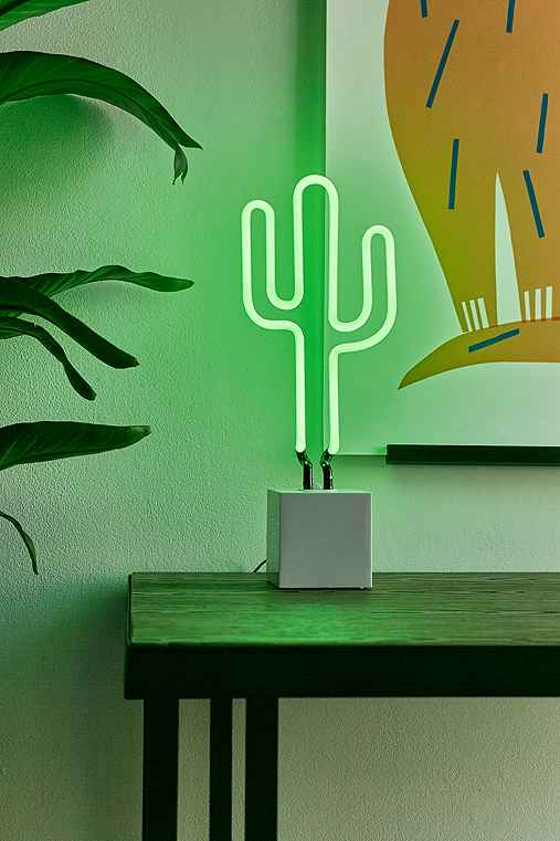 Neon Mfg. Cactus Table Lamp,GREEN,ONE SIZE