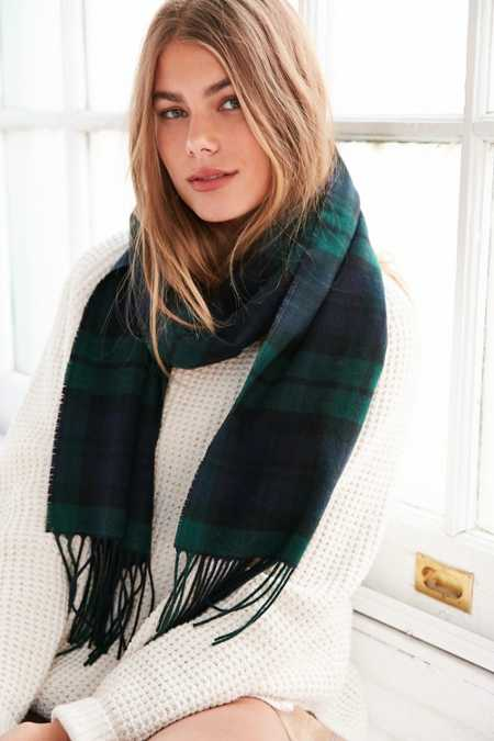 Pendleton Plaid Whisperwool Muffler Scarf