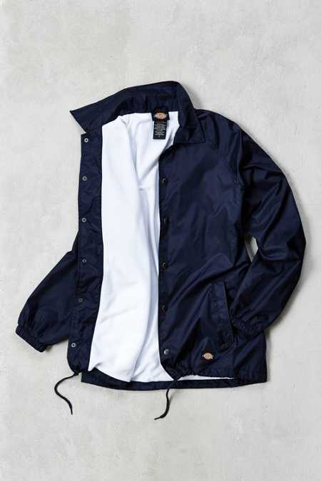 Dickies Snap Front Nylon Coaches Jacket