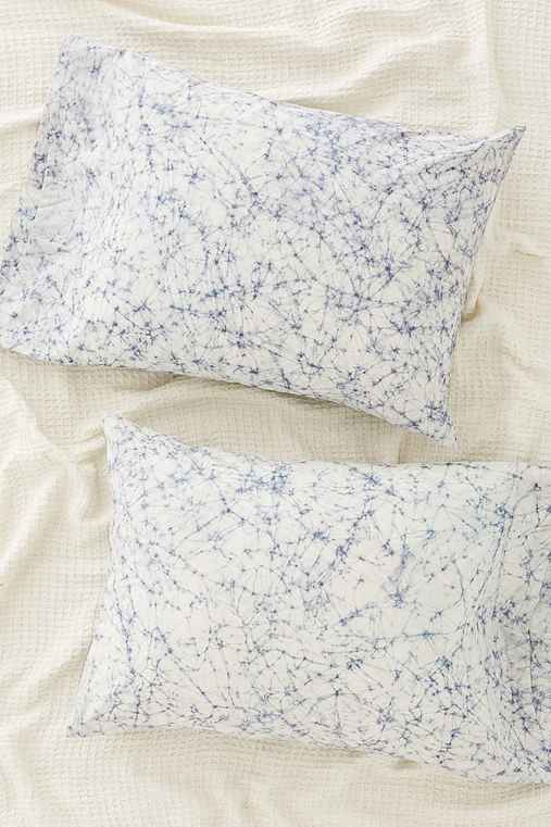 Batik Dyed Pillowcase Set,GREY,ONE SIZE