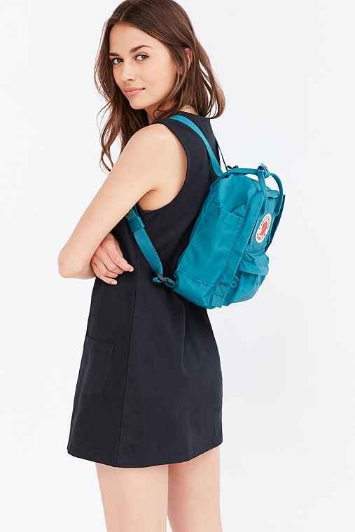 Fjallraven Kanken Mini Backpack,TURQUOISE,ONE SIZE