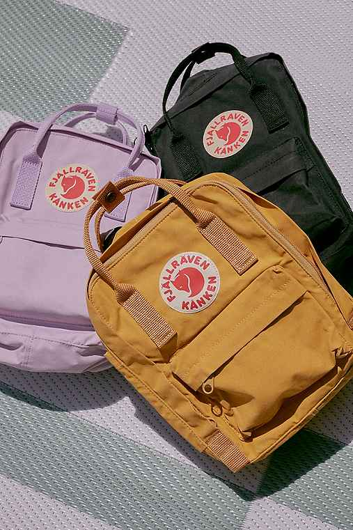 Fjallraven Kanken Mini Backpack,YELLOW,ONE SIZE