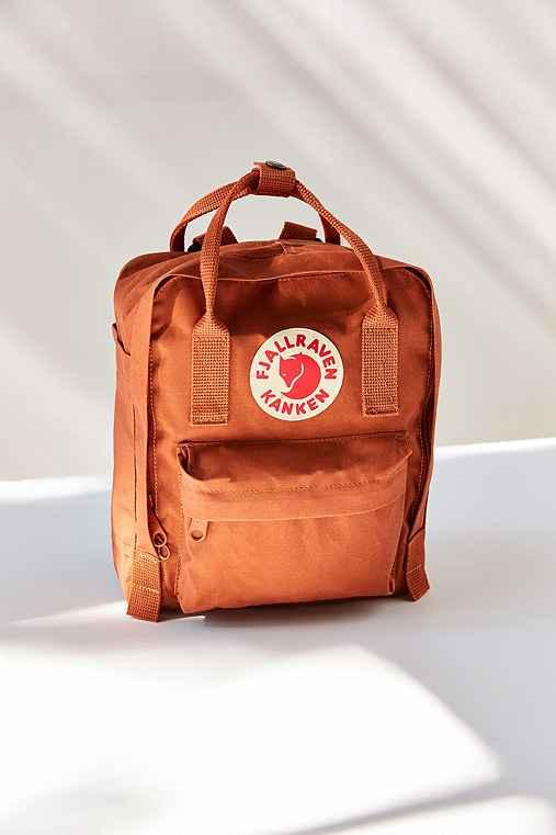 Fjallraven Kanken Mini Backpack,DARK ORANGE,ONE SIZE