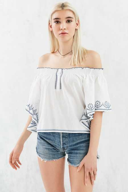 Ecote In The Flowers Off-The-Shoulder Blouse