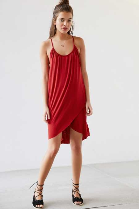 Silence + Noise Tulip Hem Trapeze Dress