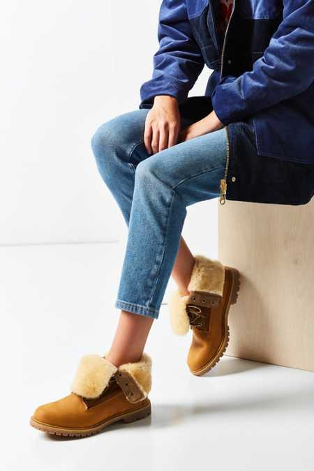 Timberland Authentic Shearling Fold-Down Boot