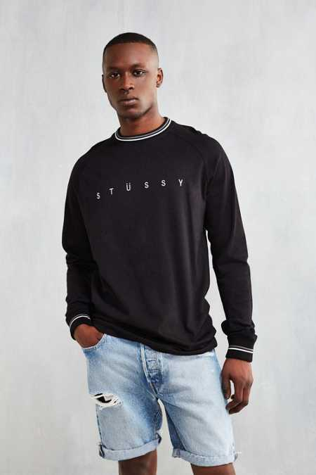 Stussy Stripe Collar Long-Sleeve Tee
