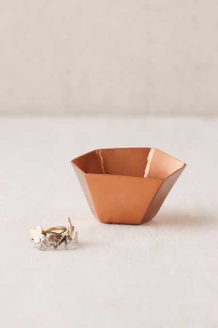Copper Geo Ring Dish