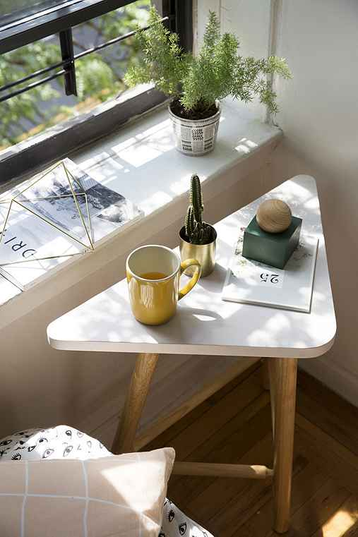Opheile Corner Side Table,WHITE,ONE SIZE