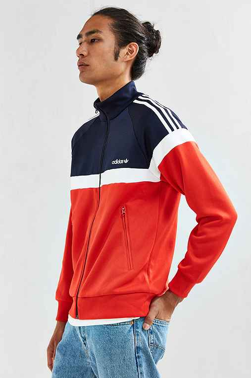 adidas + UO Itasca Track Jacket,RED,S