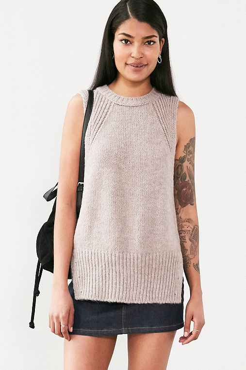 Silence + Noise Outsider Tunic Sweater Top,TAUPE,S