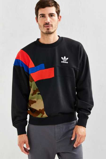 adidas Block Crew Neck Sweatshirt